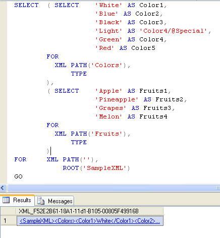 Xml on sql server.